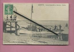 CPA  Décollée  -  Harlette  -   (bateau ) - Société Industrielle Et Maritime  -  Somme - France