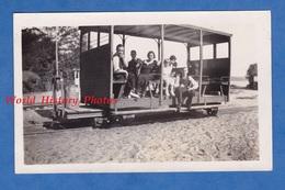 Photo Ancienne Snapshot - LE PYLA - Superbe Wagon Ligne De Chemin De Fer Arcachon Cap Ferret Train Gironde - Trains