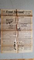 FRONT NATIONAL EDITION DE PARIS  01/11/1944 CARICATURE HITLER LES WAFFEN BB - Journaux - Quotidiens