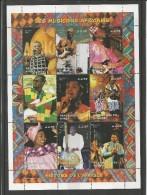 Niger 1998 - Musiciens Africain Souvenir Sheet Mnh - African Music Sheet Mnh - Musica