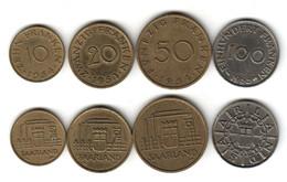 SARRE Série Complète 10 + 20 + 50 + 100 Franken 1954 1955 - Sarre (1954-1955)