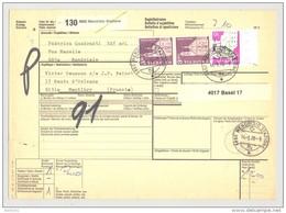 Bulletin D'Expédition - Schweiz / Suisse - Cachet Mendrisio Stazione - 81 - Aff. 7.1Fr - Vignette Basel 17 - Brieven En Documenten