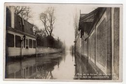 NEUILLY --Crue De La Seine 30 Janvier 1910--Rue De Longchamp - Neuilly Sur Seine