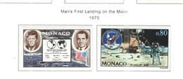 Monaco PO 1970 Sbarco Uomo Sulla Luna   Scott.772+773 See Scan On Scott.Page - Monaco
