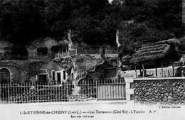 Saint-Etienne-de-Chigny (37) - Les Terrasses (côté Est) - Be - Non Voyagée - N&B - Other Municipalities