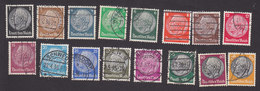 Germany, Scott #415-429, 431, Used, Hindenberg, Issued 1933 - Used Stamps