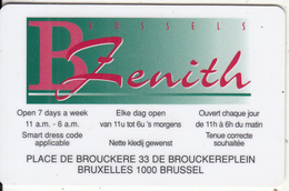 BELGIUM - Brussels Zenith Casino, Member Card, Used - Gift Cards