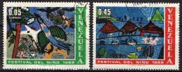 VENEZUELA - 1969 - GIORNATA DEL FANCIULLO - DISEGNI DI BAMBINI - USATI - Venezuela