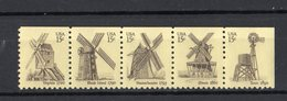 Stati Uniti - USA :  P.O.  Mulini A Vento   5 Val. Da Libretto  MNH**   7.02.1980 - Unused Stamps