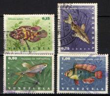 VENEZUELA - 1966 - MARINE LIFE: PESCI - FISHES - USATI - Venezuela