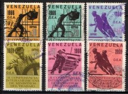 VENEZUELA - 1966 - CONFERENZA DEI MINISTRI DEL LAVORO AMERICANI - USATI - Venezuela