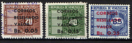 VENEZUELA - 1965 - FRANCOBOLLI DI SERVIZIO CON SOVRASTAMPA - USATI - Venezuela