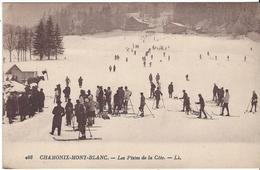 74 CHAMONIX MONT BLANC SPORTS HIVER SKIEURS SUR LES PISTES DE LA COTE OU SAVOY PALACE Editeur LEVY LL 408 - Chamonix-Mont-Blanc