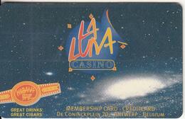 BELGIUM - La Luna Casino, Member Card, Used - Gift Cards