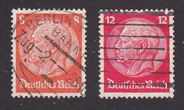 Germany, Scott #404, 406, Used, Hindenberg, Issued 1933 - Used Stamps