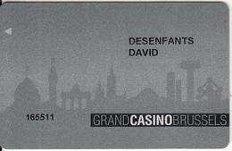 BELGIUM - Grand Casino Brussels, Member Card, Used - Gift Cards