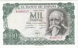 España - Spain 1.000 Pesetas 17-9-1971 Pick 154 SERIE R Ref 834-7 - [ 3] 1936-1975: Regime Van Franco