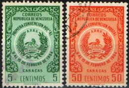 VENEZUELA - 1955 - PRIMA CONVENZIONE POSTALE DI CARACAS - USATI - Venezuela