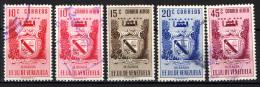 VENEZUELA - 1952 - STEMMA DI MIRANDA E PRODOTTI AGRICOLI - USATI - Venezuela