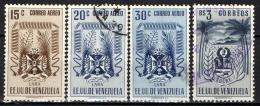 VENEZUELA - 1952 - STEMMA DI LARA, PRODOTTI AGRICOLI E CORDA - USATI - Venezuela