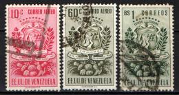 VENEZUELA - 1951 - STEMMA DI TACHIRA E PRODOTTI AGRICOLI - USATI - Venezuela
