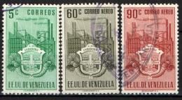 VENEZUELA - 1951 - STEMMA DI CARABOBO E INDUSTRIA - USATI - Venezuela