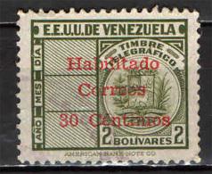 VENEZUELA - 1951 - FRANCOBOLLO PER TELEGRAFO CON SOVRASTAMPA - USATO - Venezuela