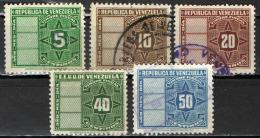 VENEZUELA - 1947 - CIFRA - USATI - Venezuela
