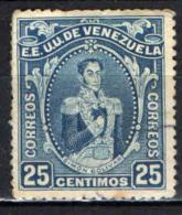 VENEZUELA - 1914 - EFFIGIE DI SIMON BOLIVAR - USATO - Venezuela