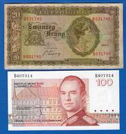 Luxembourg  2  Billets - Luxembourg