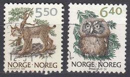 NORGE - 1991 - Serie Completa Di 2 Valori Usati: Yvert 1016/1017, Come Da Immagine. - Norwegen