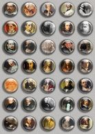 Artist Self Portraitset Painting BADGE BUTTON PIN SET (1inch/25mm Diameter) 35 DIFF A - Berühmte Personen