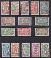 R389. FRENCH SOMALI COAST . 1909 - SC#: 64-79 - MNG -  SCV: US$ 262.00 - French Somali Coast (1894-1967)