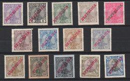 R440. PORTUGAL. 1910 - SC#: 170-183 - MNG -  SCV: US$ 70.00 - 1910 : D.Manuel II