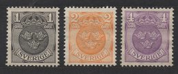 R446. SWEDEN. 1910-1911 - SC#: 67-69  - MNG - ARMS  COATS -   SCV: US$ 4.90 - Neufs
