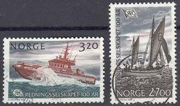 NORGE - 1991 - Serie Completa Di 2 Valori Usati: Yvert 1023/1024, Come Da Immagine. - Norwegen
