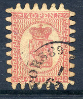 FINLAND 1866 40 P. Rose/rose Roulette III, Used. SG 42, Michel 9 Cx - 1856-1917 Amministrazione Russa