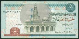 EGYPT / 5 POUNDS / DATE : 12-8-2008 / P- 63(2-2) / PREFIX : 161 / SIG : OKDA / USED - Egipto