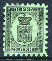 FINLAND 1866 8 P. Black/green Roulette I, Used. SG 44, Michel 6 Ax - 1856-1917 Amministrazione Russa