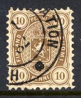 FINLAND 1881 10 P. Brown, Perforated 11, Fine Used. SG 72, Michel 15Ay - 1856-1917 Amministrazione Russa