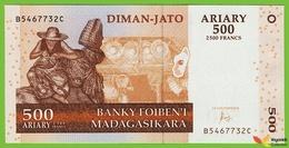 Voyo MADAGASCAR 500 Ariary 2004/2016 P95b B322d B-C UNC Zebu - Madagaskar