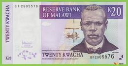 Voyo MALAWI 20 Kwacha 2007 P52d B143e UNC Prefix BF Tea Harvest - Malawi