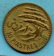 (r65)  LIBAN   10 Piastres 1955  Km#22 - Lebanon