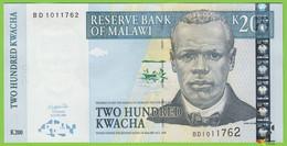 Voyo MALAWI 200 Kwacha 2004 P55 B146c BD UNC Reserve Bank Of Malawi, Lilongwe - Malawi