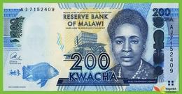 Voyo MALAWI 200 Kwacha 2013 P60b B153b AJ UNC  UNC Politics - Malawi