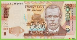 Voyo MALAWI 500 Kwacha 2014(2015) P66 161a AX UNC Mulunguzi Dam (Zomba) - Malawi