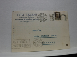 CREVALCORE    --- BOLOGNA ---   EZIO TAVANI  .. MEDIATORE PRODOTTI AGRICOLI - Bologna