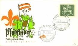 4268  Saint Georges Et Le Dragon: Env. 1er Jour D'Allemagne, 1961 - Scout FDC From Germany: SAINT GEORGE And The Dragon - Scoutisme