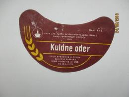 ESTONIA , OLD BEER LABEL , KULDNE ODER 2  , 0 - Beer
