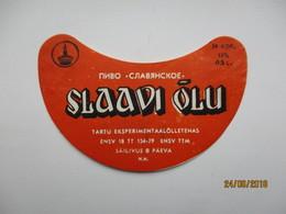 ESTONIA , OLD BEER LABEL , SLAAVI ÕLU 1 , 0 - Beer